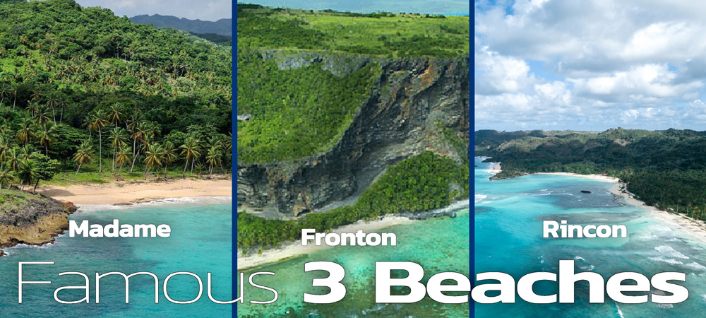 Best Tours to 3 Famous Beaches: Playa Rincon, Fronton & Madame in Samana.